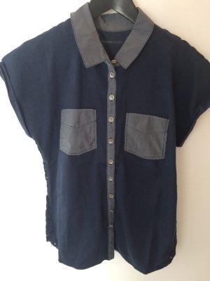 Schönes T-Shirt von Marc Cain. Größe N3(38) blau. Top Zustand.