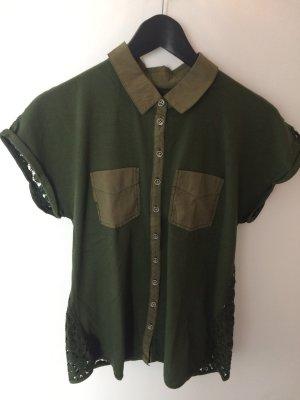Schönes T-Shirt von Marc Cain. Größe N3(38) Khaki top Zustand