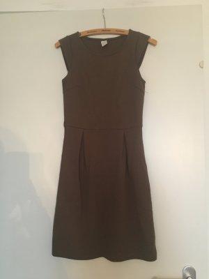 Schönes tailliertes Herbstkleid, olivgrün von Vila, XS