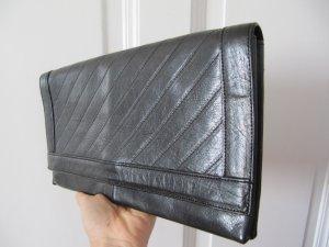 Schönes Tasche CLUTCH Original von Bally Echtes Leder Schwarz
