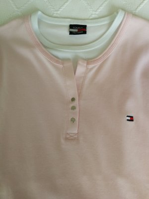 Tommy Hilfiger Top à manches longues blanc-rosé