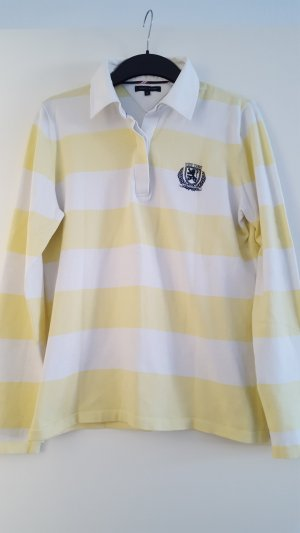 Schönes Tommy Hilfiger Polo Shirt, langarm, gestreift, Gr. XL