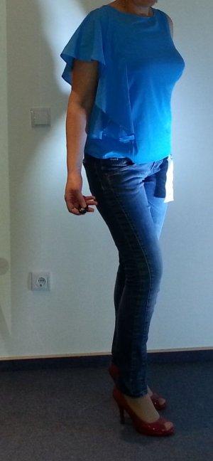 Schönes Top Bluse Vila by Vero Moda Gr. L/38/40 T-Shirt Büro Sommer leicht Shirt