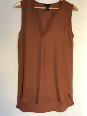 H&M Top in seta cognac
