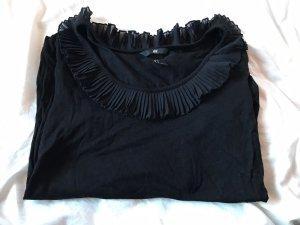 H&M Camisa con cuello caído negro