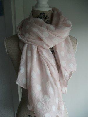 schönes Tuch, 160x60cm, rosa mit weißen Punkten - NEU