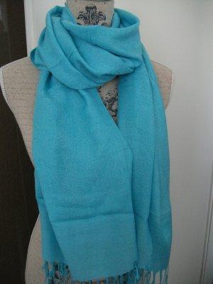 schönes Tuch / Schal, 170 x 70 cm,  türkis-blau