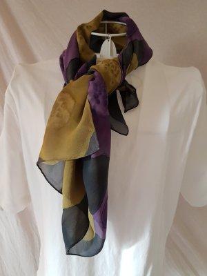 Pañuelo violeta oscuro-amarillo limón