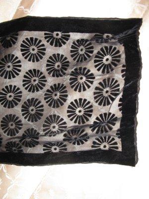 Schönes Tuch/Stole aus schwarzem Samt aus London