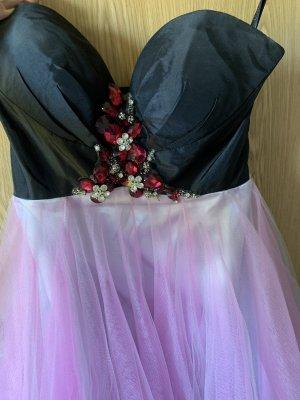 Luxuar Limited Robe à corsage noir-rose clair