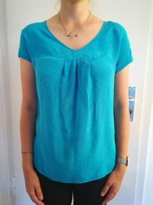 Schönes türkises Shirt aus 100 % Seide