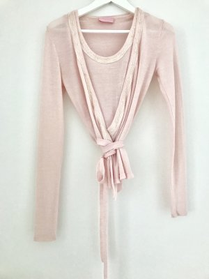 St. emile Knitted Wrap Cardigan pink