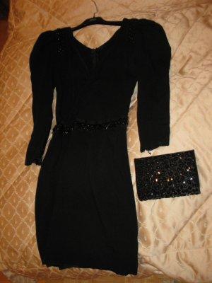 Schönes und sexy schwarzes Kleid von einer Modedesignerin, D32-34