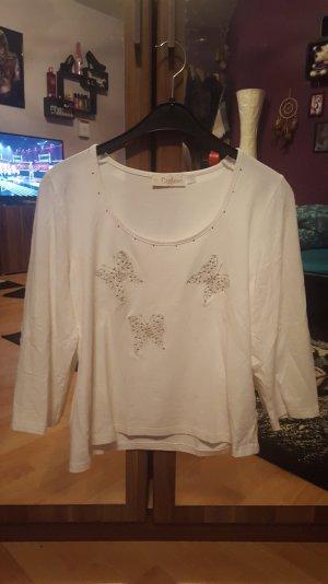 Schönes Weißes Langarm Shirt Größe L