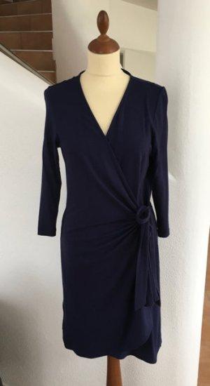 Schönes Wickelkleid von Esprit Gr. L Farbe Blau Jerseykleid