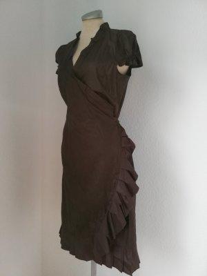 Mango Suit Robe portefeuille multicolore coton