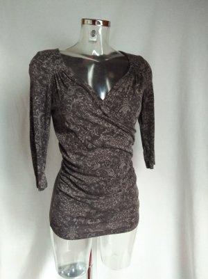 Zero Camisa cruzada taupe-marrón grisáceo Algodón