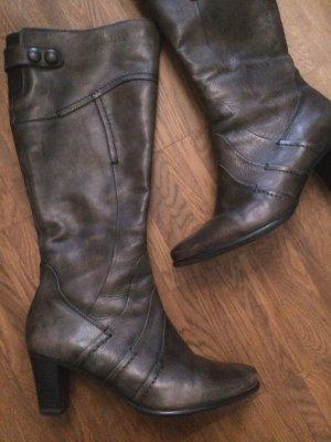 """Schönste Herbst-Stiefel im Vintage-Look von """"JANA"""" feines Leder Gr. 39 H, neuwertig!"""