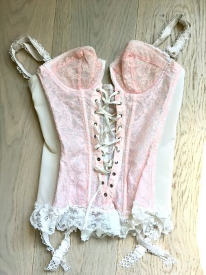 beclaimed vintage Bustino color oro rosa-bianco