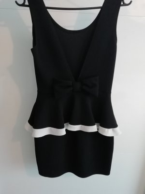 Peplum Dress white-black