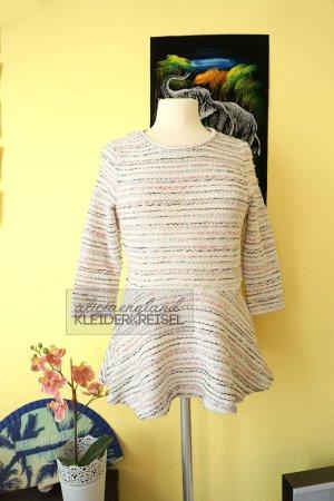 Schößchen Pullover mit Streifen