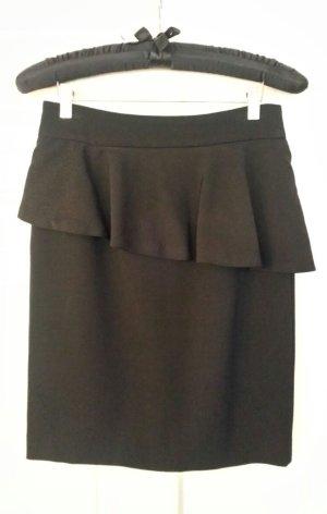 Zara Jupe taille haute noir