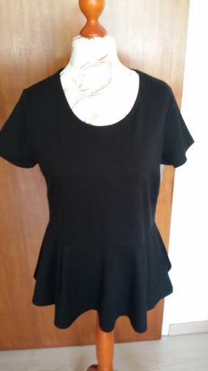 T-shirt nero Tessuto misto