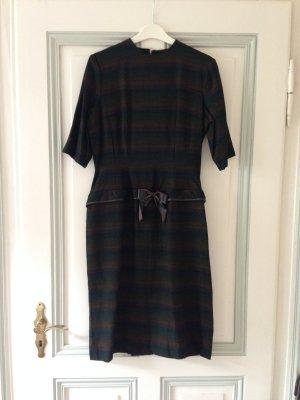 Peplum jurk bruin-donkergroen