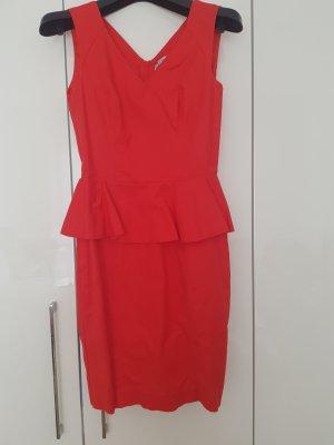 H&M Vestido peplum multicolor