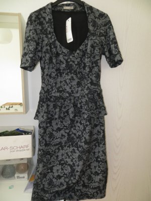 Orsay Peplum jurk grijs-zwart
