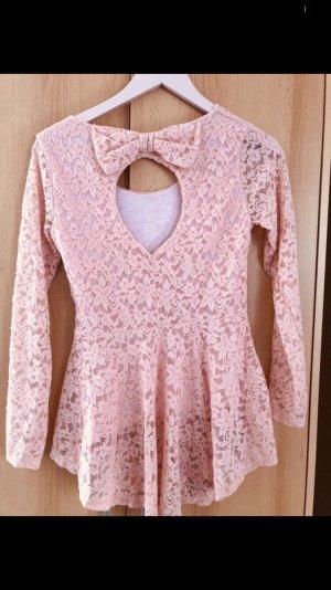 Camisa larga albaricoque-rosa
