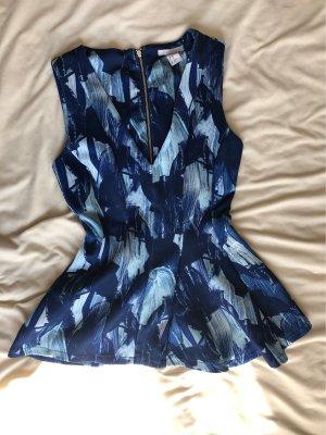 H&M Peplum top blauw-azuur