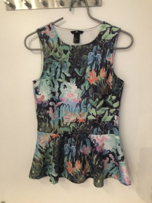 H&M Peplum Top multicolored polyester