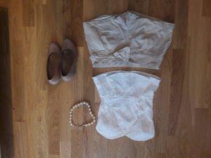 SchößchenTop Spitze und Shorts mit Schleife Gr.M /36