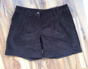 Schokobraune Shorts aus Cord