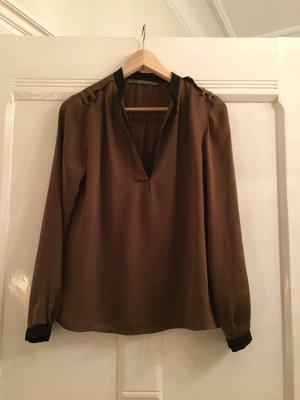 Schokoladebraune Bluse - Größe M
