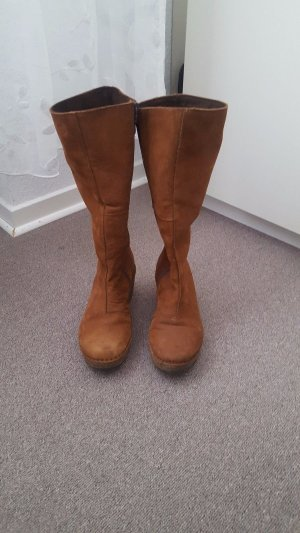 Scholl platform boots, with zipper , size 37, brown color.