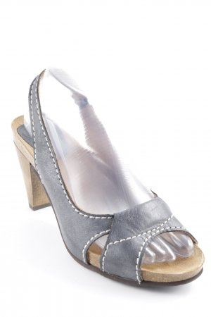 Scholl Slingback Pumps petrol-grey brown casual look