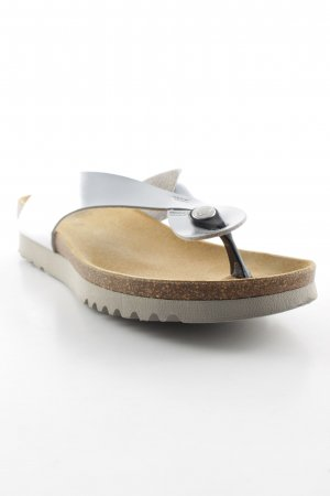 Scholl Sandalo toe-post argento stile spiaggia