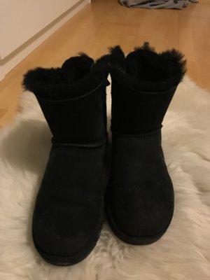 UGG Australia Fur Boots black leather