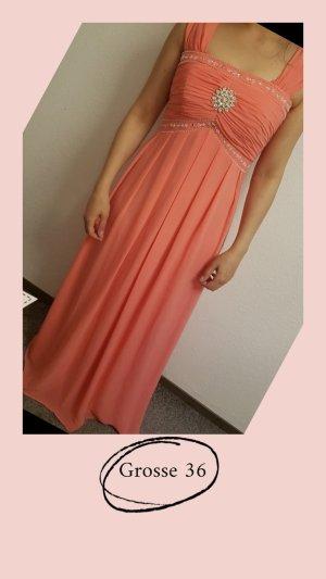 100 Evening Dress salmon-apricot
