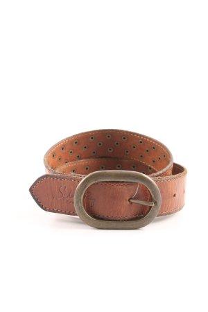 School rag Leather Belt brown casual look