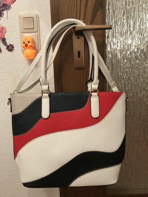 Shopper wit-neonrood