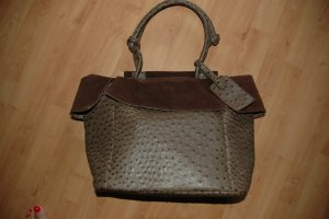 Shopper dark brown-bronze-colored