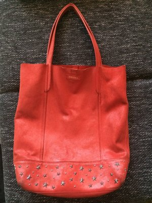 Diesel Shopper rouge cuir