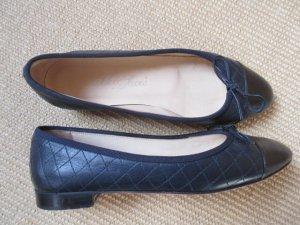 SchoShoes Milano, Ballerinas gesteppt, handgenäht, Chanelstyle