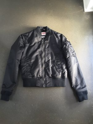 Schott NYC Chaqueta bomber negro