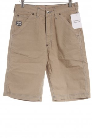 Schott NYC 3/4 Length Trousers camel casual look