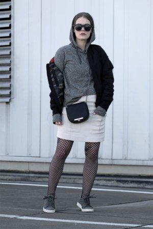 Schott NYC Bomberjacke schwarz Street-Fashion-Look