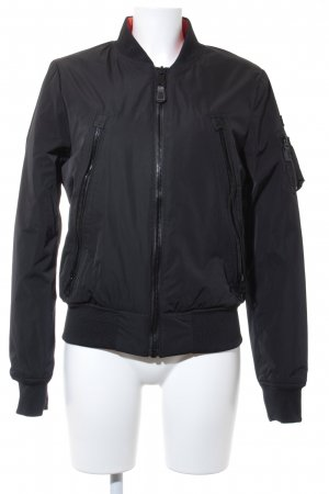 Schott NYC Bomber Jacket black street-fashion look